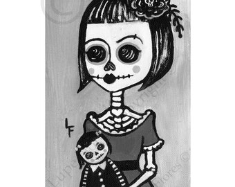 Creepy Dolls 5x7 art print by Lupe Flores