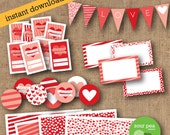 "INSTANT DOWNLOAD: DIY Printables - Party Pack - ""Valentines Day"""