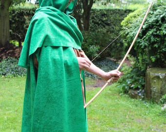 Medieval style Archer Cape cloak for a child in various colors and sizes Robin Hood Hunter Assassin Cosplay
