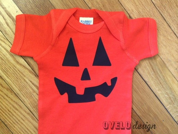 Jack O Lantern Bodysuit in Orange