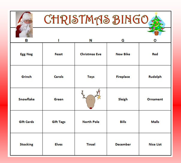 Christmas Party Bingo Game 60 Cards by BuyMeSomeHappiness on Etsy