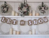 LET it SNOW  Banner for the Holiday Season