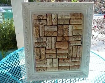 Jewelry Holder / Vintage Picture Frame / OOAK/ Organizer / Napa Valley/ Metal Frame
