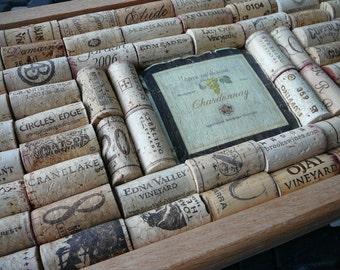 Bulletin Board/Message Center/Organization/Wine Cork Art/Wine Bar Art Sign
