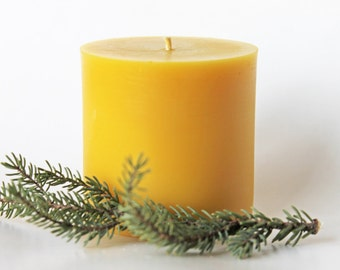 "Pure Beeswax Pillar Candle, 3""x3"""