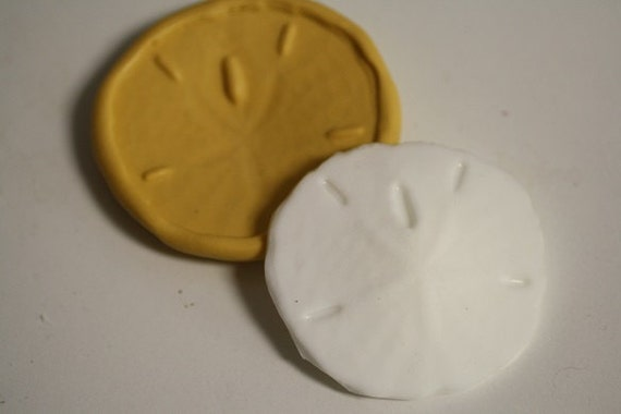 Small silicone sand dollar mold for cake by ACakeToRemember