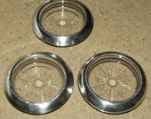 Frank Whiting Sterling Silver Glass Coasters Set of 3