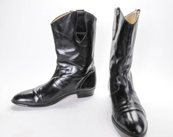 reserved short Black Boots Size 10 .5