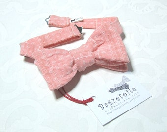 Bow Tie - peach, self tie freestyle / I make mens bow ties, classic bowtie - for him