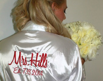Titles for back of Robes or Shirts, Back Side Personalization, Bride on Back of Robe, MUST BE PURCHASED with a package of Shirts or Robes