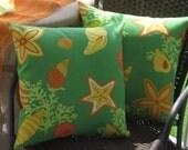 Beach Pillow Nautical Pillow Robert Allen Beach Bongo Outdoor Seashell Pillow Cover // Coastal Decor // Beach Decor // Beach House Decor