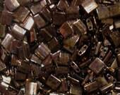 Miyuki Tila Beads 2 hole 5mm Metallic Dark Raspberry TL457B (100)