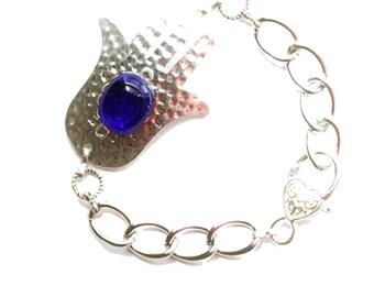 Hamsa bracelet, Hamsa charm bracelet, Evil eye charm bracelet, silver bracelet, Hamsa, Silver Hamsa, Charm bracelet