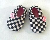 Crib Shoes Racing Fabric / Baby Girl Pink