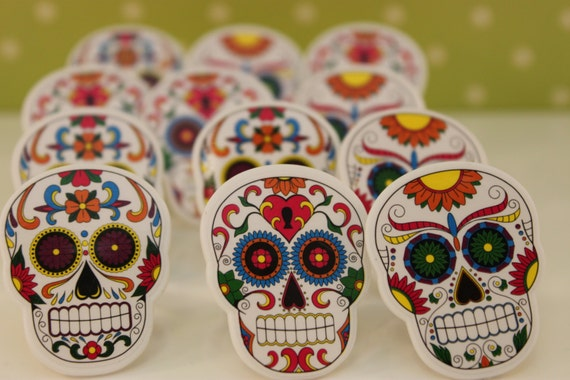 Mexican Decorated Skulls Mexican Sugar Skull Cupcake