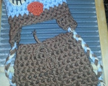 Newborn Owl baby Hat Shorts bloomers diaper Set Crochet outfit Photo shorties Studio Prop Hats sleepy sleeping awake hoot boy girl