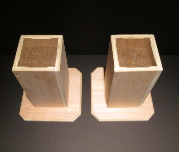 Items Similar To Dorm Room Bed Risers 8 Inch All Wood Construction Unfinished Square Design