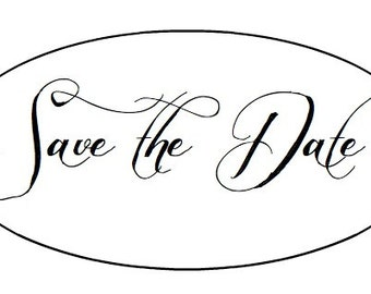 "50 Wedding SAVE THE DATE Labels - 2"" x 1"" - Oval seals/Stickers/labels"