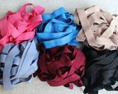 Fold over elastic  6  colors 2 of each color