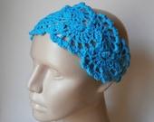 Crochet Headband - HeadBand - Hair Accessories - Crochet HairBand in Turquoise