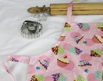 Cupcakes and Polka Dots Child Apron