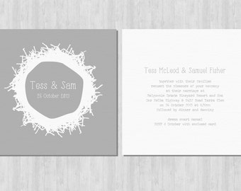 Printable Wedding Invitation - Nest