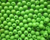 SALE - Green Acrylic Beads 8mm 20 Beads