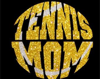 Women's Glitter Bling Tennis Mom shirt