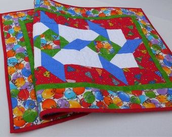 Birthday Table Runner-Reversible to Patriotic-Free Shipping to US and Canada