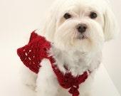 DIGITAL PATTERN:Crochet Dog Clothes PATTERN,Dog Pattern,Dog Sweater Pattern,Crochet Puppy Clothes Pattern,Red Dog Clothes,Red Dog Sweater