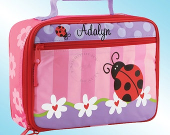 Lunchbox - Personalized and Embroidered - Fully Insulated - LADYBUGS