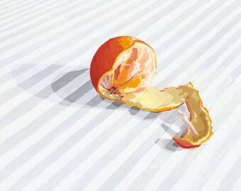 "8x10"" kitchen art - food print - ""Peeled orange"""