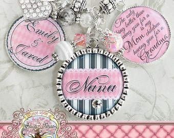 PERSONALIZED Grandma Gift NECKLACE (Keychain) The only thing better than having you for a Mom, Quote Nana Mom  Noni Mimi Christmas Present