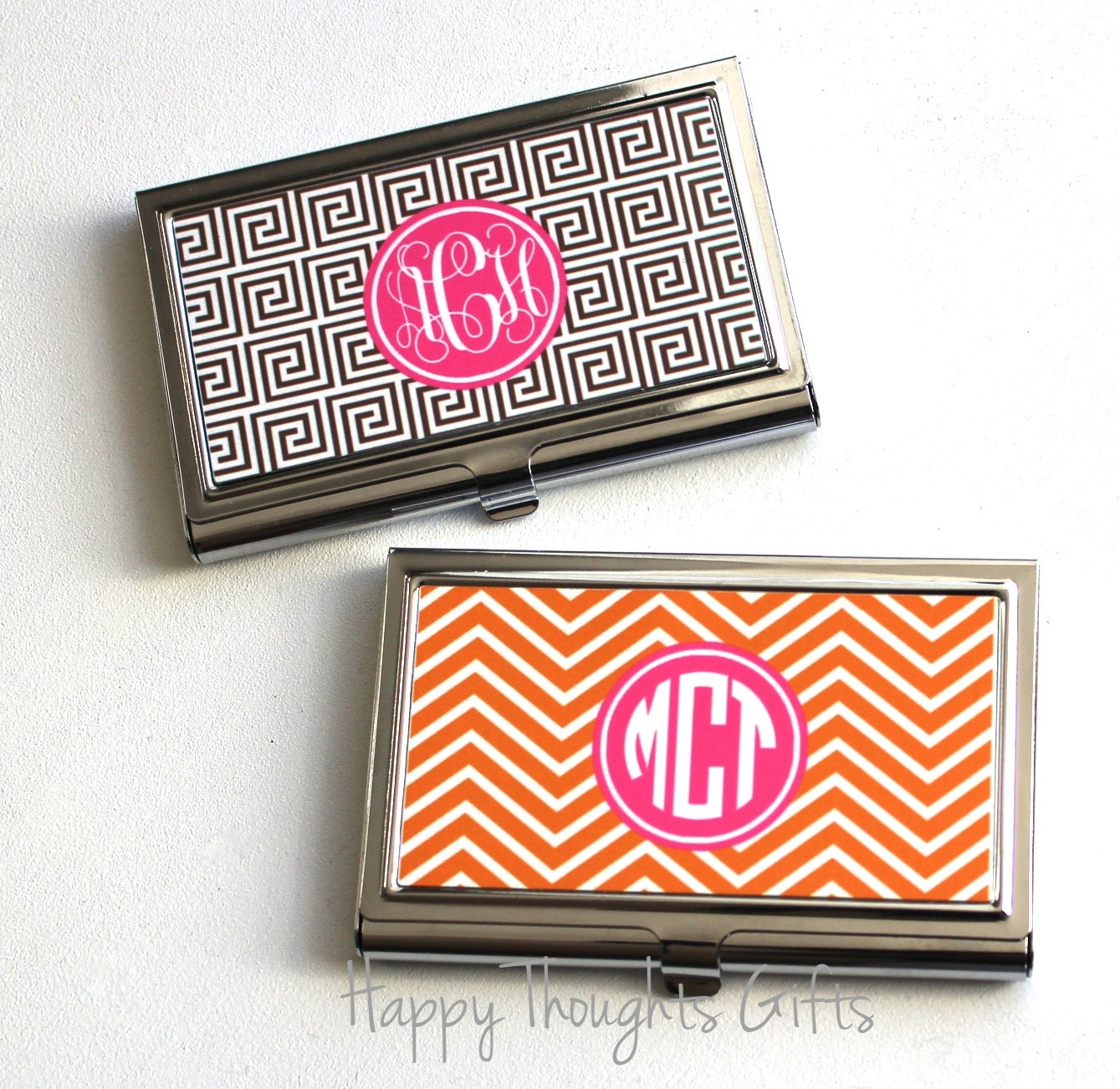 Monogrammed business card holder unlimitedgamers monogrammed business card holder colourmoves