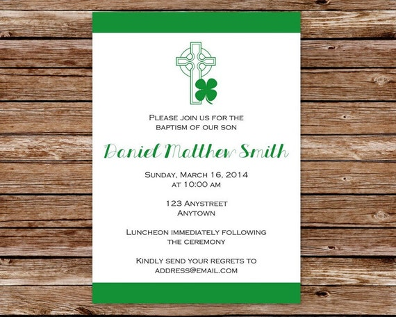 Printable Personalized Irish Invitation