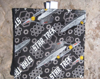 Star Trek - Reusable Snack Bag, Reusable Sandwich Bag, Washable Treat Bag with easy open tabs