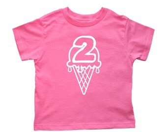 Ice Cream Cone Birthday Shirt Any Age - pick your colors - icecream party - free personalization!