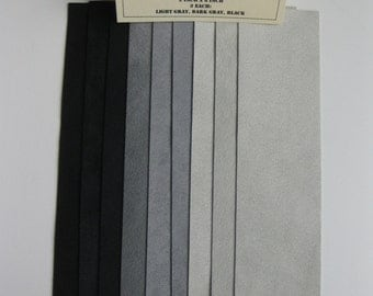Ultrasuede Soft 2x8 Inch Strips - Shades of Gray