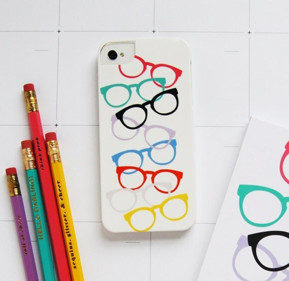 Pencil Shavings Studio iPhone Case - Girls in Glasses