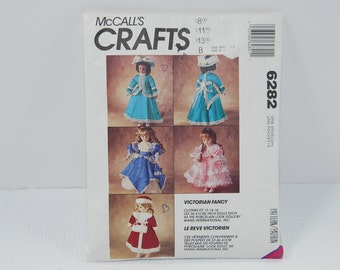 PAT6282 Vintage Victorian Doll Clothes Patters For 13 in 14 in 16 in Dolls
