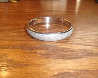 vintage bracelet bangle silvertone sparkle