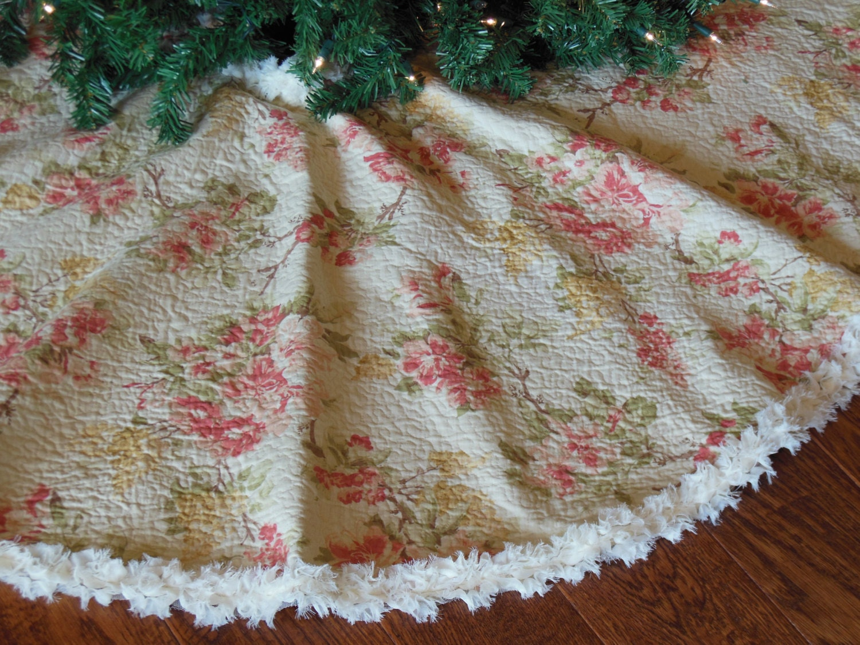 Shabby Chic Christmas Tree Skirt