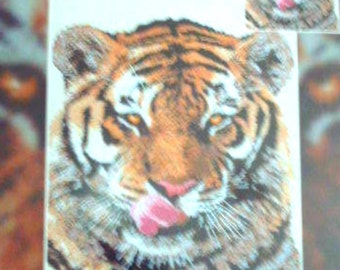 Candamar Siberian Tiger Cat Face Wildcat  Wildlife Nature Needlepoint Kit Very Rare