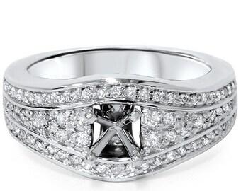 Diamond .42CT Engagement Setting 14K White Gold