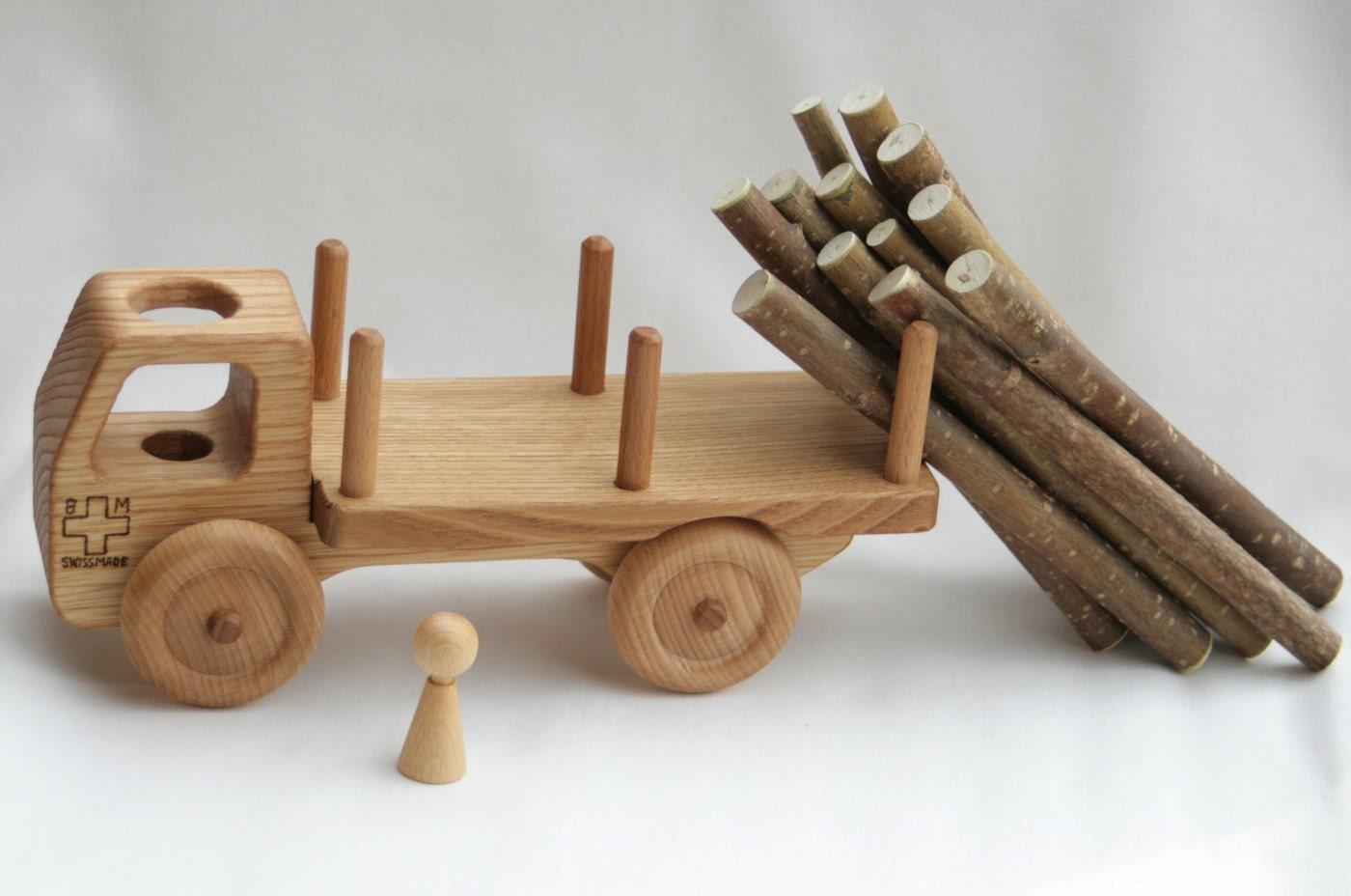 Wooden Toy Truck Wooden Car Waldorf toy Solid Chestnut