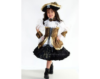 Pageant Sassy Pirate Girl Costume OOC talent wear Casual wear sport wear natural wear Halloween custom 12m up to 10 yrs