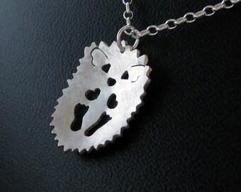 Hedgehog Necklace - Silver Hedgehog Jewelry - Cute Woodland Animal Pendant - Adorable Hedgehog Gifts
