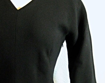 Vintage Barneys NY Black Dinner Dress