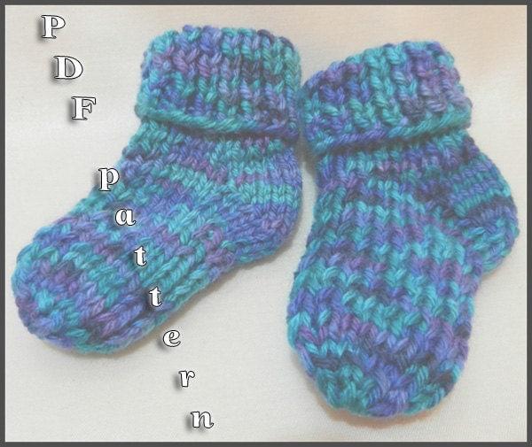 Easy Newborn Socks Knitting Pattern : Easy Knitted Baby Socks Pattern MATTIE