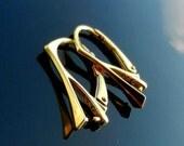 Gold Vermeil EARWIRES over Sterling Silver Euro Lever backs Ear Hooks 925